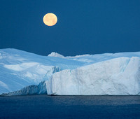 Moonset over Iceberg