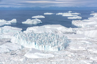 Aerial View Icebergs